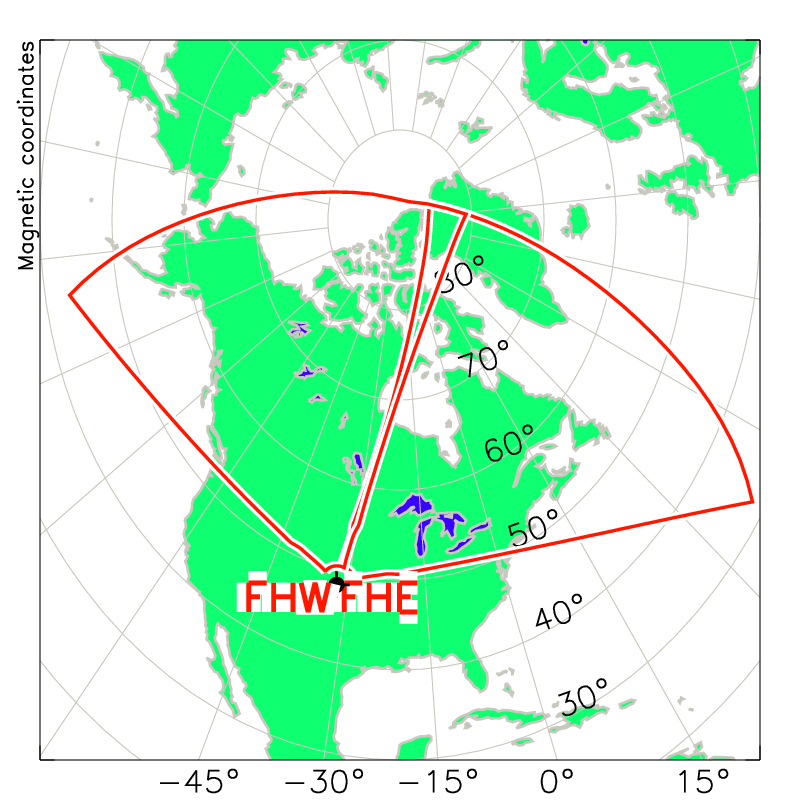 Fort Hays Radar Field of View Map