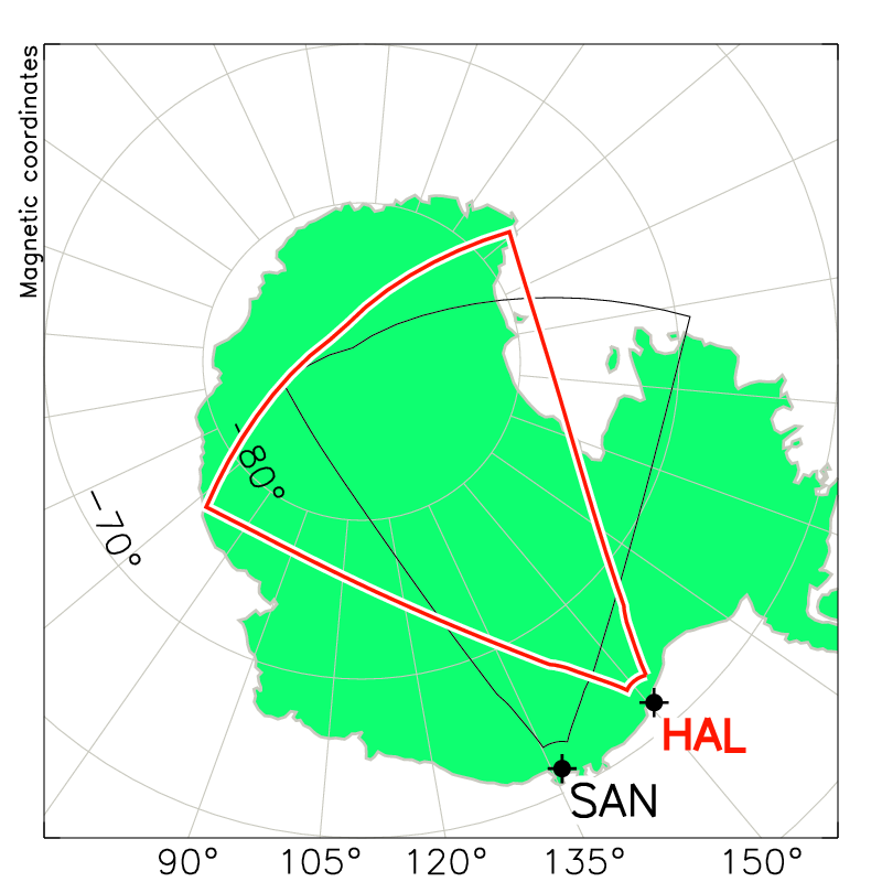 Halley Radar Field of View Map