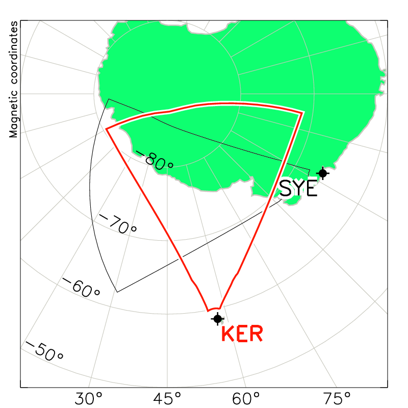 Kerguelen Radar Field of View Map