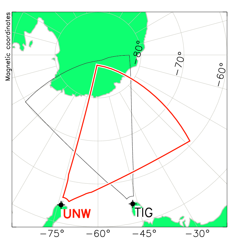 Unwin Radar Field of View Map